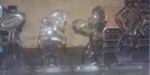 Football Players ice carving