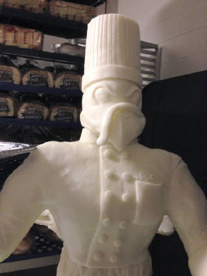 Hokie Bird butter sculpture