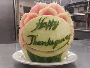 thanksgiving melon carving