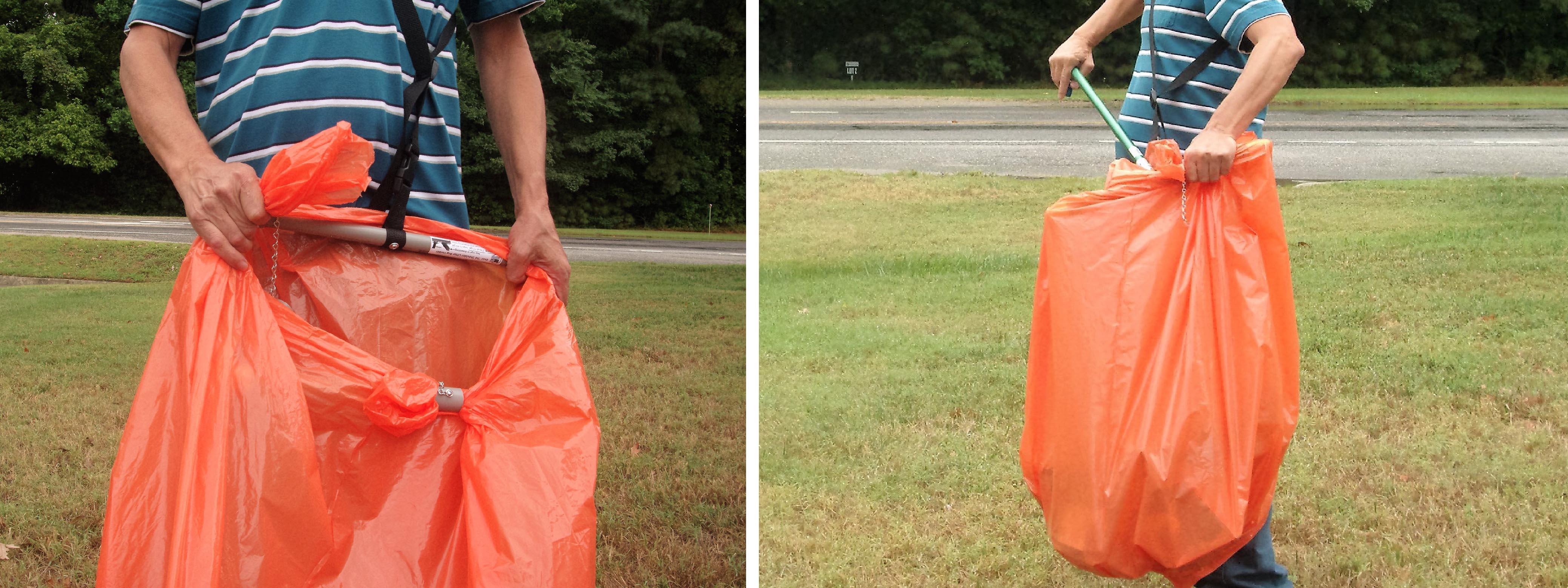 Over Shoulder Trash Bag Holder